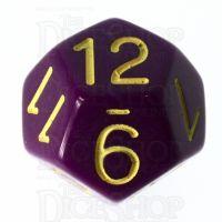 Role 4 Initiative Opaque Purple & Gold D12 Dice