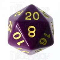 Role 4 Initiative Opaque Purple & Gold D20 Dice