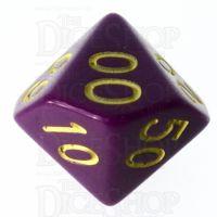 Role 4 Initiative Opaque Purple & Gold Percentile Dice