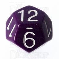 Role 4 Initiative Opaque Purple & White D12 Dice