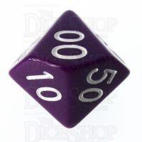 Role 4 Initiative Opaque Purple & White Percentile Dice