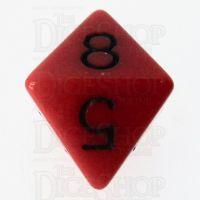 Role 4 Initiative Opaque Red & Black D8 Dice