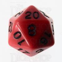 Role 4 Initiative Opaque Red & Black D20 Dice