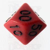 Role 4 Initiative Opaque Red & Black Percentile Dice