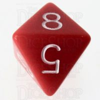 Role 4 Initiative Opaque Red & White D8 Dice