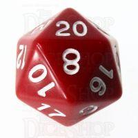 Role 4 Initiative Opaque Red & White D20 Dice