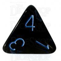 Role 4 Initiative Translucent Black & Blue D4 Dice