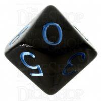 Role 4 Initiative Translucent Black & Blue D10 Dice