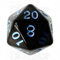 Role 4 Initiative Translucent Black & Blue D20 Dice
