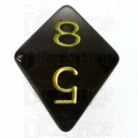 Role 4 Initiative Translucent Black & Gold D8 Dice