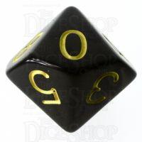 Role 4 Initiative Translucent Black & Gold D10 Dice