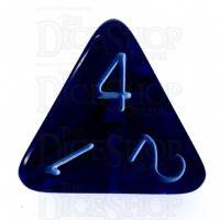 Role 4 Initiative Translucent Blue & Blue D4 Dice