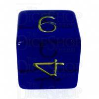 Role 4 Initiative Translucent Blue & Gold D6 Dice