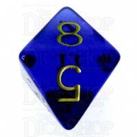 Role 4 Initiative Translucent Blue & Gold D8 Dice
