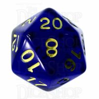 Role 4 Initiative Translucent Blue & Gold D20 Dice
