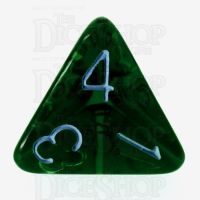 Role 4 Initiative Translucent Green & Blue D4 Dice