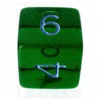 Role 4 Initiative Translucent Green & Blue D6 Dice