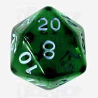 Role 4 Initiative Translucent Green & Blue D20 Dice