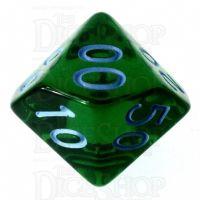 Role 4 Initiative Translucent Green & Blue Percentile Dice