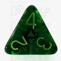 Role 4 Initiative Translucent Green & Gold D4 Dice