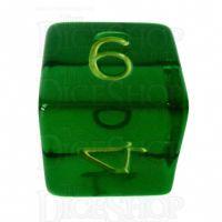 Role 4 Initiative Translucent Green & Gold D6 Dice