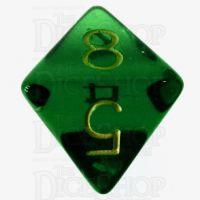 Role 4 Initiative Translucent Green & Gold D8 Dice