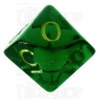 Role 4 Initiative Translucent Green & Gold D10 Dice