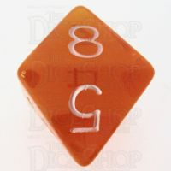 Role 4 Initiative Translucent Orange & White D8 Dice