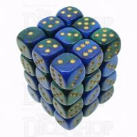 Chessex Gemini Blue & Green 36 x D6 Dice Set