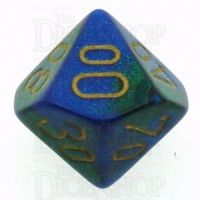 Chessex Gemini Blue & Green Percentile Dice