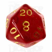 Role 4 Initiative Translucent Red & Gold D20 Dice
