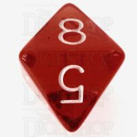 Role 4 Initiative Translucent Red & White D8 Dice