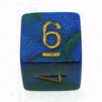 Chessex Gemini Blue & Green D6 Dice
