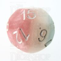 Impact Cotton Candy & White D15 Dice