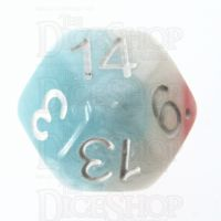 Impact Cotton Candy & White D14 Dice
