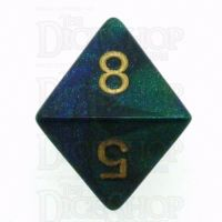 Chessex Gemini Blue & Green D8 Dice