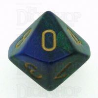Chessex Gemini Blue & Green D10 Dice