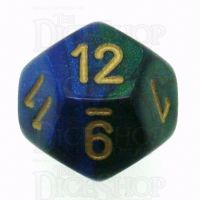 Chessex Gemini Blue & Green D12 Dice