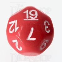 Impact Opaque Red & White D19 Dice