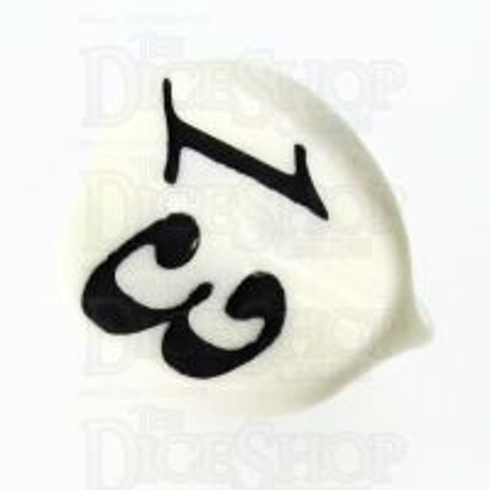 Impact Opaque White & Black Apple Core D3 Dice