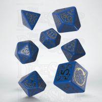 Q Workshop Pathfinder War for the Crown Blue & Gold 7 Dice Polyset