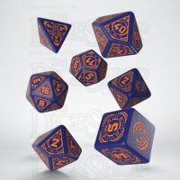 Q Workshop Starfinder Dead Suns Blue & Orange 7 Dice Polyset