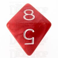 Role 4 Initiative Marble Red & White D8 Dice