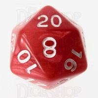 Role 4 Initiative Marble Red & White D20 Dice
