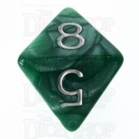 Role 4 Initiative Marble Green & White D8 Dice