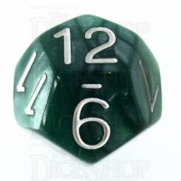 Role 4 Initiative Marble Green & White D12 Dice
