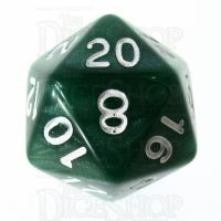 Role 4 Initiative Marble Green & White D20 Dice