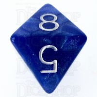 Role 4 Initiative Marble Blue & White D8 Dice