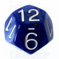 Role 4 Initiative Marble Blue & White D12 Dice