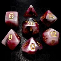 TDSO Opalescence Black & Red 7 Dice Polyset